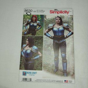 8630 SIMPLICITY MISSES' COSPLAY ARMOR SIZE 16-24